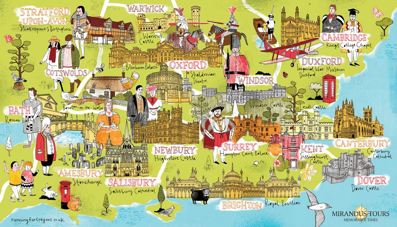 London Tour Map.Beyond London Tours Mirandus Tours