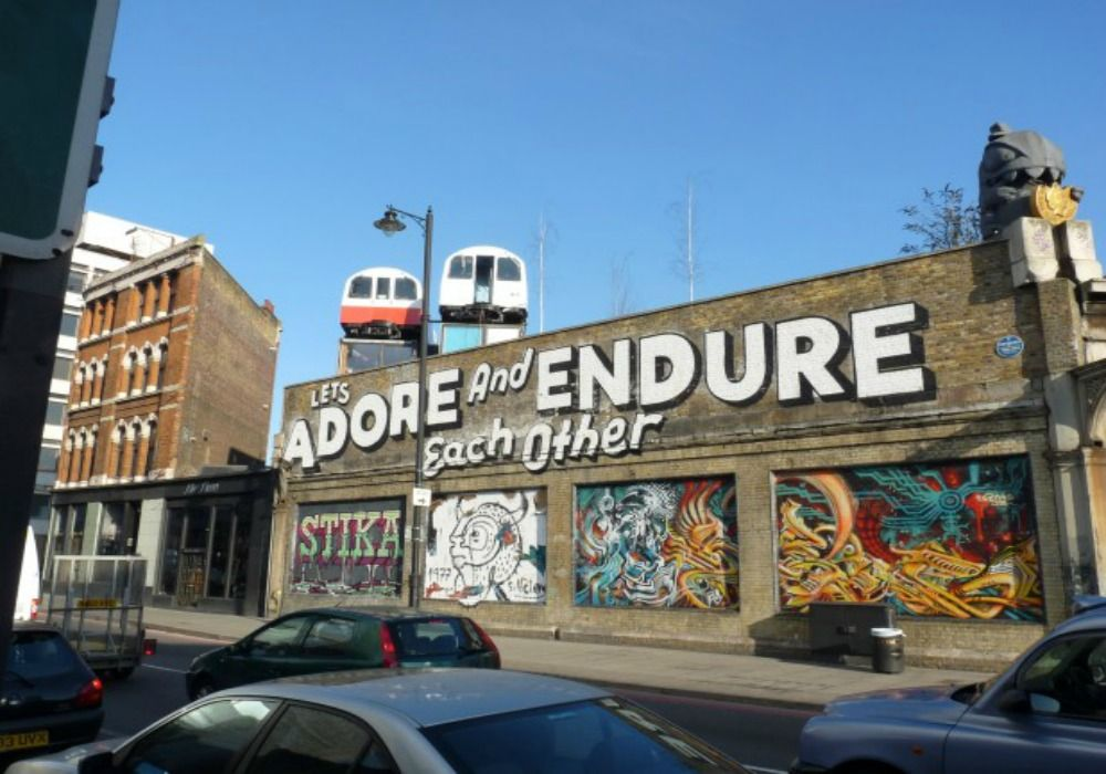 London: Street Art - Lets Adore and Endure Each Other