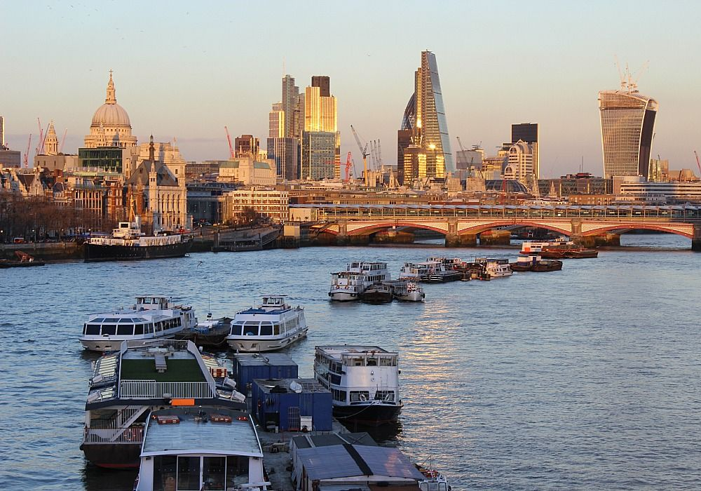 London: A view of the city from River Thames