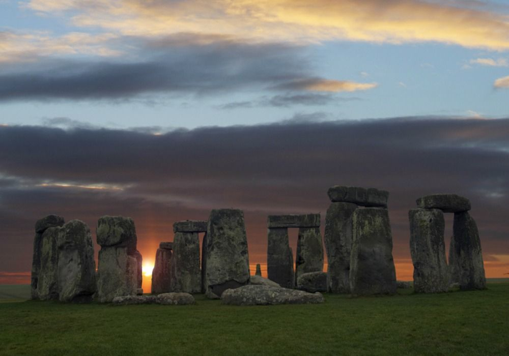 A sunset view of Stonehenge