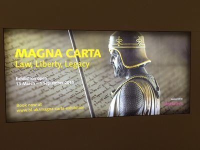Magna Carta exhibition at British Library